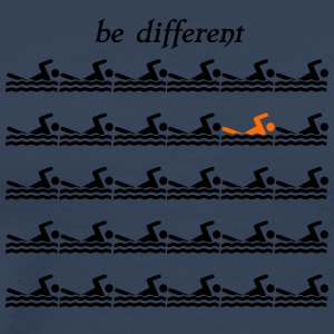 "Swimmershirt Schwimmershirt ""be different"" - Männer Premium T-Shirt"