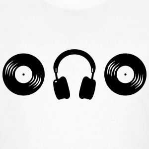 Vinyl headphones DJ headphone plate Club music T-Shirts - Men's Organic T-shirt