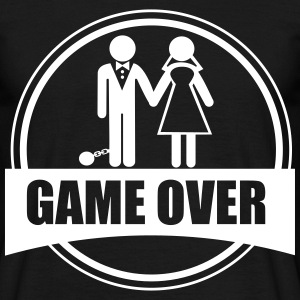 Game over, Funy, couples - Men's T-Shirt