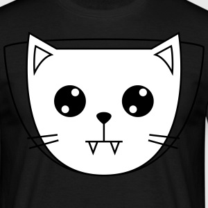 Cute Cat Icon | Vampire T-shirts - Herre-T-shirt