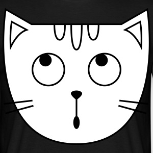 Cute Cat Icon T-shirts - Herre-T-shirt