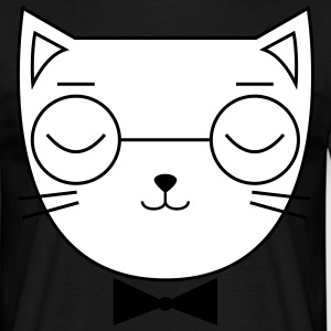 Cute Cat Icon | Hipster | Glasses | Bow Tie T-shirts - Herre-T-shirt