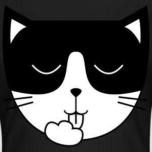Cute Cat Icon | Mask T-shirts - Dame-T-shirt