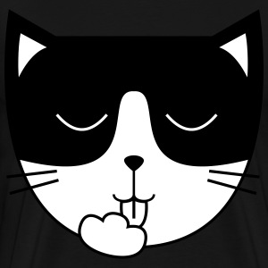 Cute Cat Icon | Mask T-shirts - Herre premium T-shirt