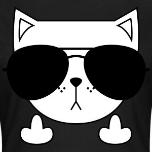Cute Cat Icon | Sunglasses | Middle Finger T-Shirts - Women's T-Shirt