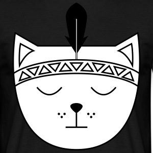 Cute Cat Icon | Feather Tee shirts - T-shirt Homme