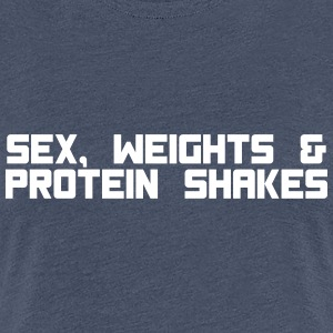 sex weights proteinshakes T-Shirts - Frauen Premium T-Shirt