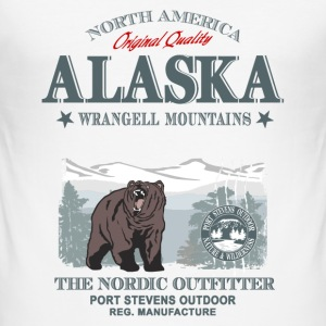 Alaska - Grizzly Bear T-Shirts - Männer Slim Fit T-Shirt