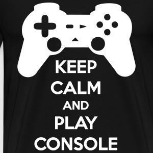 KEEP CALM AND PLAY CONSOLE T-Shirts - Männer Premium T-Shirt