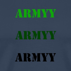 colored army slogan - Men's Premium T-Shirt