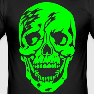 Totenkopf Skull Skelett Skeleton Tattoo T-Shirt - Männer Slim Fit T-Shirt