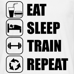 Eat,sleep,train,repeat Gym- body building T-shirt - Männer T-Shirt