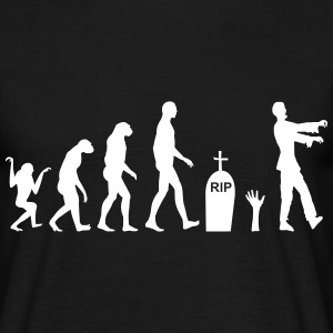 Zombie evolution  - Männer T-Shirt