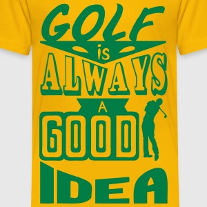 Golf quote always good idea swing spo Shirts - Kids' Premium T-Shirt