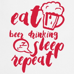 Eat beer drinking sleep repeat citation  Aprons - Cooking Apron