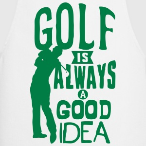 Golf always good idea citation quote  Aprons - Cooking Apron