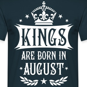 Kings are born in August Krone King Star T-Shirt - Männer T-Shirt