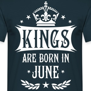 Kings are born in June Krone King Star T-Shirt - Männer T-Shirt