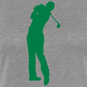 Golf swing player 1502 T-Shirts - Women's Premium T-Shirt