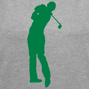 Golf swing player 1502 T-Shirts - Women's T-shirt with rolled up sleeves