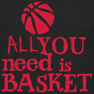 basketball_all_you_need Zitat Ballon Langarmshirts - Männer Premium Langarmshirt