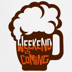 Weekend coming beer quote alcohol humor  Aprons - Cooking Apron