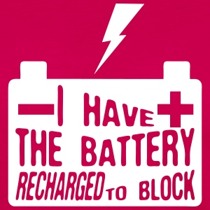 Zitat i_have_battery_recharged_block Langarmshirts - Frauen Premium Langarmshirt