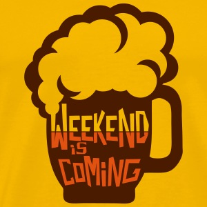 weekend coming biere citation alcool hum Tee shirts - T-shirt Premium Homme