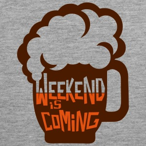Weekend coming beer quote alcohol humor Ropa deportiva - Tank top premium hombre