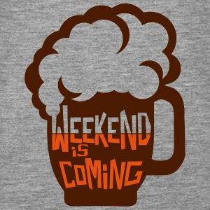 Weekend coming beer quote alcohol humor Tops - Women's Premium Tank Top