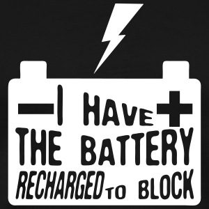 quote i have battery recharged block T-Shirts - Men's Premium T-Shirt