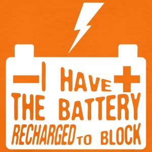 quote i have battery recharged block Shirts - Teenage Premium T-Shirt