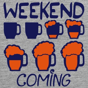 Weekend coming beer quote alcohol humor 5 Ropa deportiva - Tank top premium hombre
