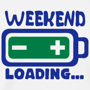 Weekend loading quote battery drums charger Camisetas - Camiseta premium hombre