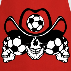 soccer Skull sign chain  Aprons - Cooking Apron