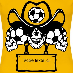 soccer Skull sign chain 8 T-Shirts - Women's Premium T-Shirt