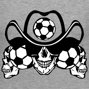 soccer Skull sign chain Long Sleeve Shirts - Women's Premium Longsleeve Shirt