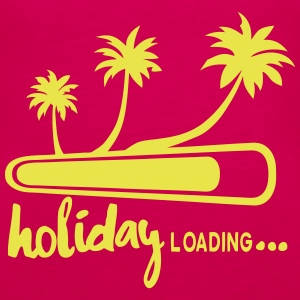 holiday_loading Vakanz Palm Zitat Tops - Frauen Premium Tank Top