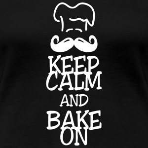 keep calm and bake on Koszulki - Koszulka damska Premium