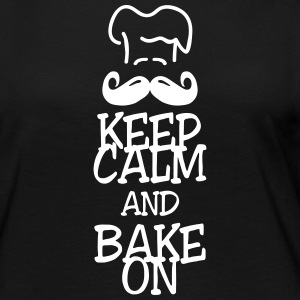 keep calm and bake on Long Sleeve Shirts - Women's Premium Longsleeve Shirt
