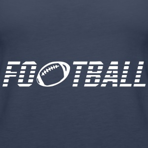 Word football ball Tops - Women's Premium Tank Top