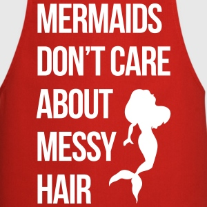 Mermaids Messy Hair Funny Quote  Aprons - Cooking Apron