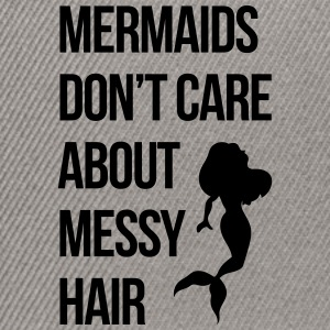 Mermaids Messy Hair Funny Quote Caps & luer - Snapback-caps