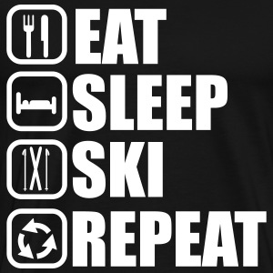 Eat,sleep,ski,repeat, ski t-shirt  - Men's Premium T-Shirt