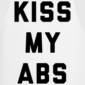 Kiss My Abs Funny Gym Quote Kookschorten - Keukenschort