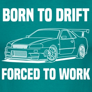 born to drift white Tee shirts - T-shirt Homme