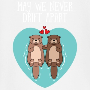 Cute Otter Couple | May We Never Drift Apart baby shirts met lange mouwen - T-shirt