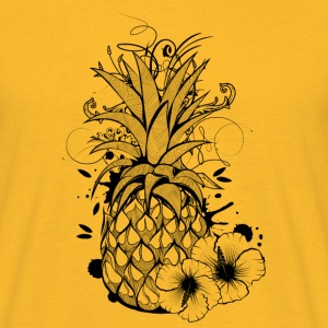 Pineapple with hibiscus blossom T-Shirts - Men's T-Shirt