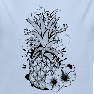Pineapple with hibiscus blossom Baby Bodysuits - Longlseeve Baby Bodysuit