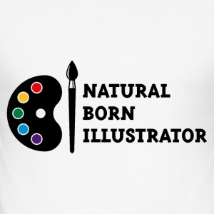 Natural Born Illustrator T-Shirts - Men's Slim Fit T-Shirt
